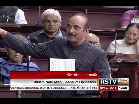 Sh. Gulam Nabi Azad's comments on the discussion on commitment to India's constitution