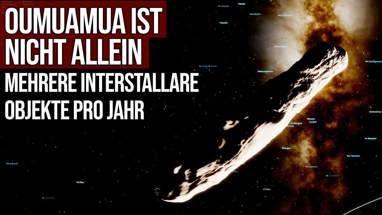 Oumuamua ist nicht allein - Mehrere interstellare Objekte pro Jahr