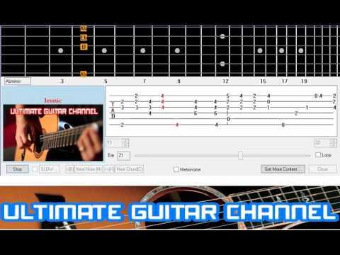 Guitar Solo Tab] Ironic (Alanis Morisette) - YouTube