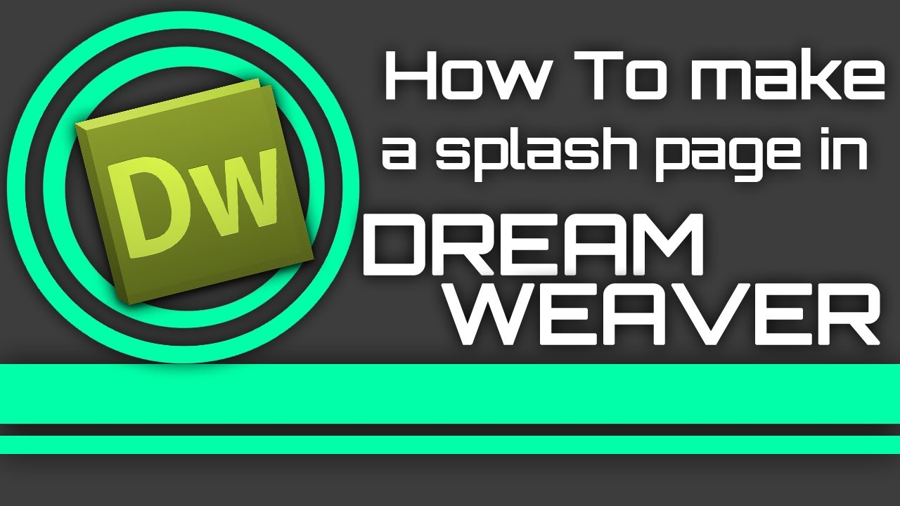 how to make a splash page in dreamweaver