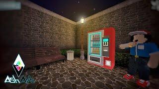 Mini World Block Art : How To Make Vending Machine - Tutorial - Miniature - Drinks