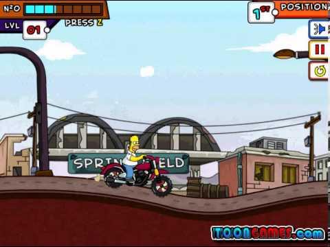Симпсоны гонки на мотоциклах