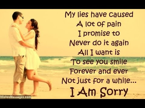 Romantic sorry messages for girlfriend