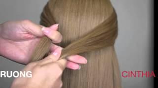 як зробити красиву зачіску з гумок