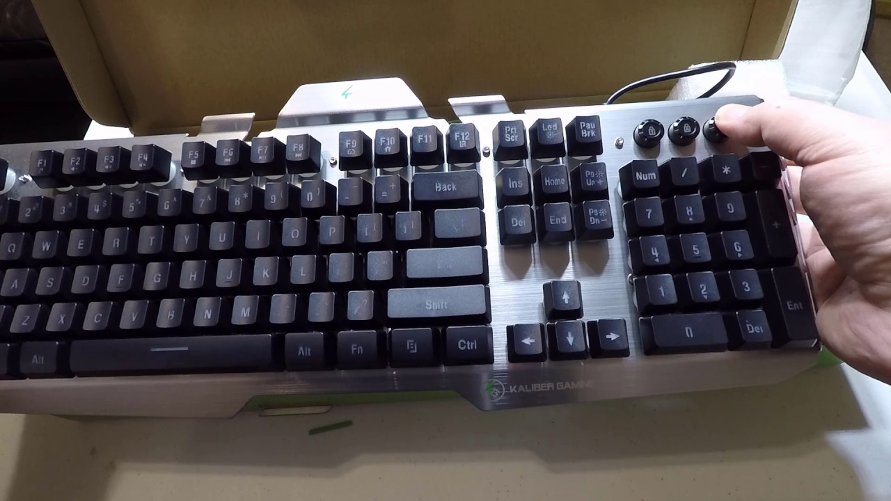 Iogears Kaliber Gaming Hver Aluminum Gaming Keyboard Unboxing