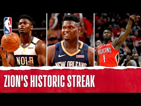 Zion Scores 20+ PTS In 6 Straight!