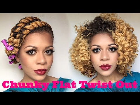 natural hair defined chunky flat
