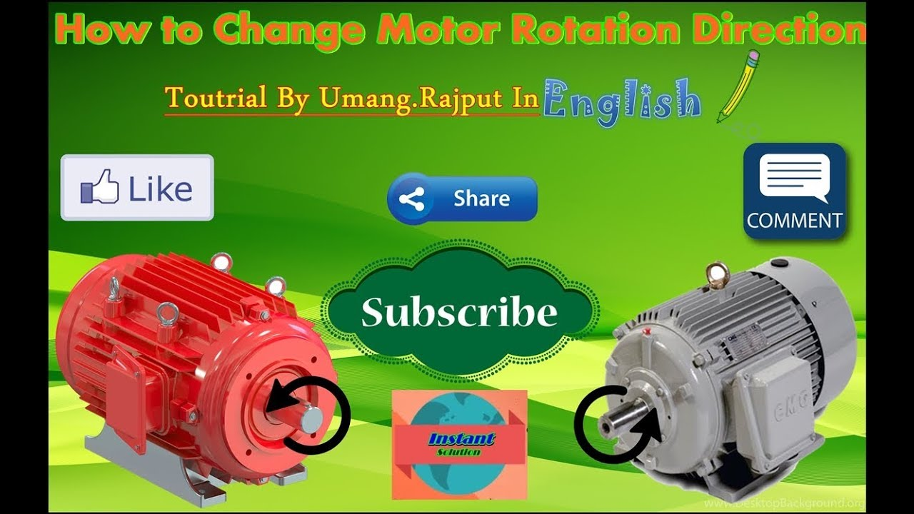 How To Change Motor Direction, Single Phase Motor, Reverse Forward Motor  Control, in English