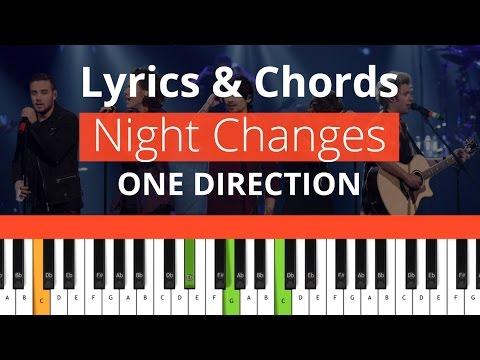 One Direction - Night Changes (Chords & Lyrics) 100% - YouTube