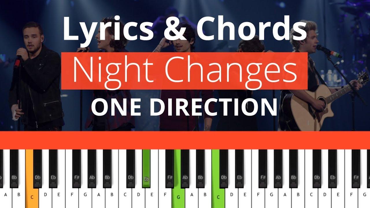 One Direction - Night Changes (Chords & Lyrics) 100%