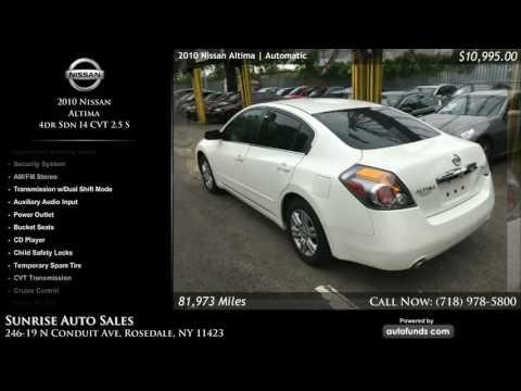 Used 2010 Nissan Altima | Sunrise Auto Sales, Rosedale, NY