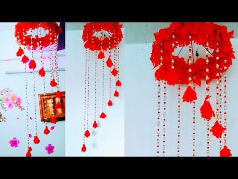 Diy wind chime/DIY unique wall hanging craft ideas/DIY home decoration/How To Make Easy Wall Hanging