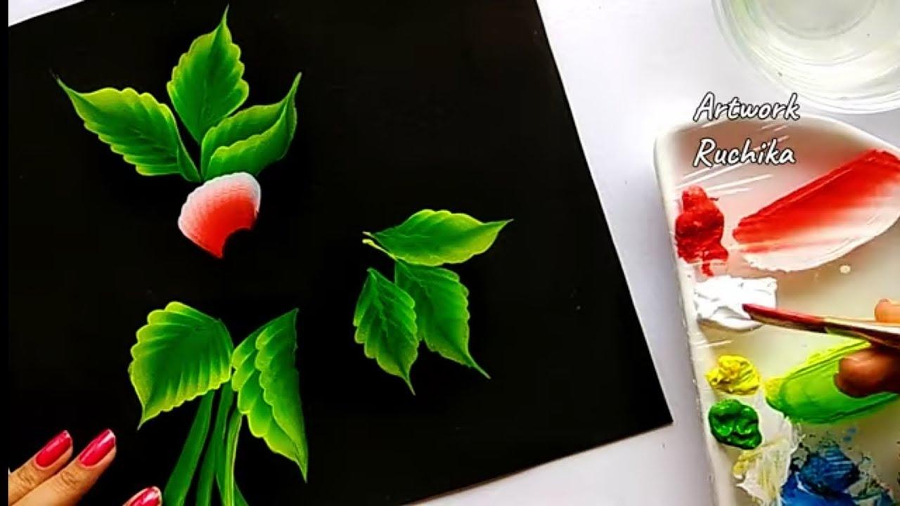 Flower Painting Tutorial | One Stroke Flower Painting | Acrylic Painting Tutorial