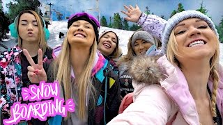 la girls snowboard in big bear vlogmas day 5