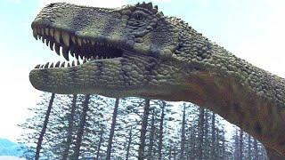 狩りをするフレングエリサウルス【クリエイティブ・ライブラリー 素材】