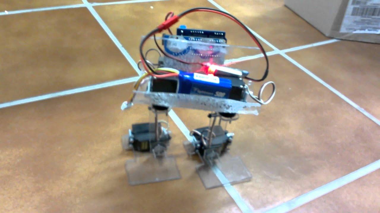 Primeros pasos robot bípedo con arduino youtube