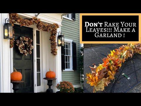 Tutorial - Don't Rake! Make a leaf garland!