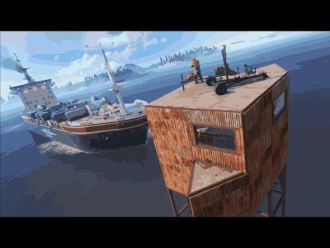 Остановил корабль своей подводной ловушкой в Rust/Раст