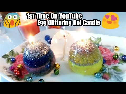 Egg Candle - How to make with gel | DIY egg candle