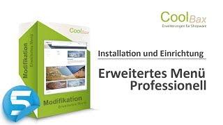 Coolbax Plugin Installation & Einstellung: Erweitertes Menü Professionell für Shopware