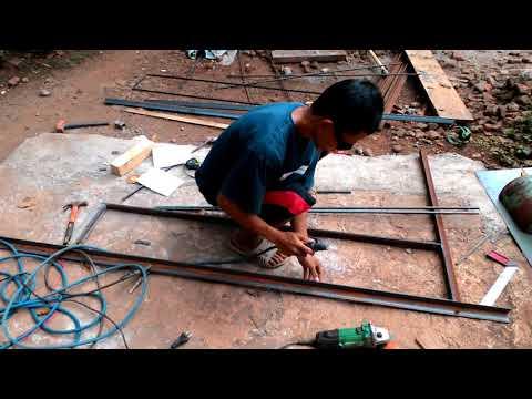 .Cara mudah mengelas tralis agar tidak belah ketupat(jajar genjang) 2