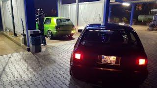 Vr6 Turbo Test Runde China Böller 2x Golf 3 Vr6 Turbo Gt35 in freier Wildbahn