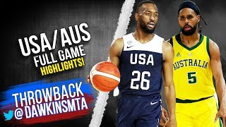 USA vs Australia Full Game Highlights | Aug 24, 2019 | FreeDawkins