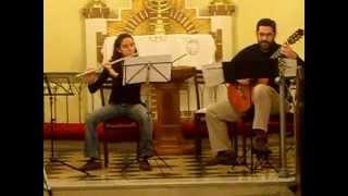 Castelnuovo Tedesco. Sonatina op.205 Flute et Guitare, 2° mov.Siciliana