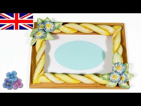 How to make Picture Frames with Modeling Clay *DIY Gifts* Air Dry ...