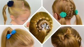 TOP 5 SIMPLE and BEAUTIFUL hairstyles with PONYTAILs. Collection of hairstyles #5