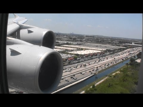 Massive And Smooth HD Airbus A380 Landing In Miami Florida On Lufthansa!!!