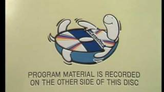 Side 2 of a 1 sided Laser Disc