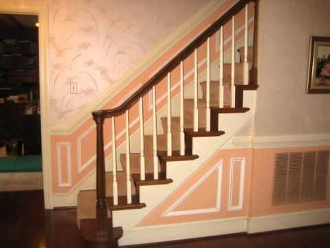 Wainscoting Installation On Stairs Wmv Youtube