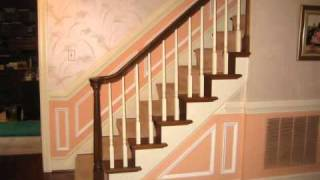 Wainscoting Installation On Stairs.wmv
