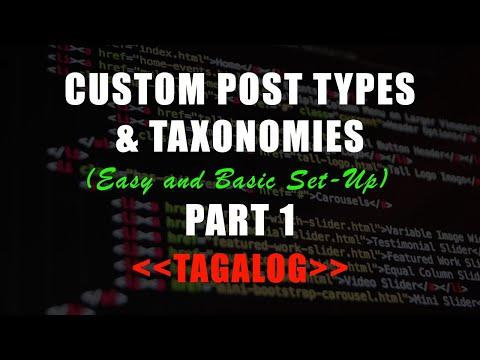 WordPress Tutorial Tagalog 2019 | PAANO gumawa ng CUSTOM POST TYPES at TAXONOMY | Custom Post UI! thumbnail