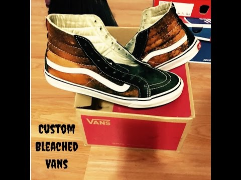 DIY Custom Bleached Vans YouTube
