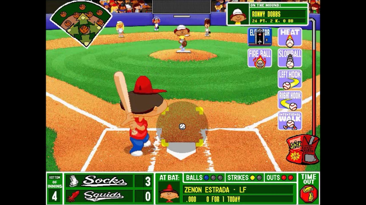 backyard baseball league pc tournament game 20 vinny the pooh