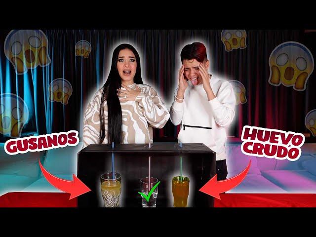 NO TOMES LA BEBIDA INCORRECTA (tomé gusanos 🤢) con Kimberly Loaiza   Cesar Pantoja