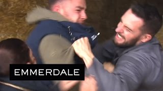 Emmerdale - Adam And Ross's Fighting Injures Victoria