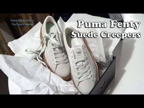45b8688b6f3 Puma x Rihanna Fenty Suede Creepers Shoes Unboxing and First Look