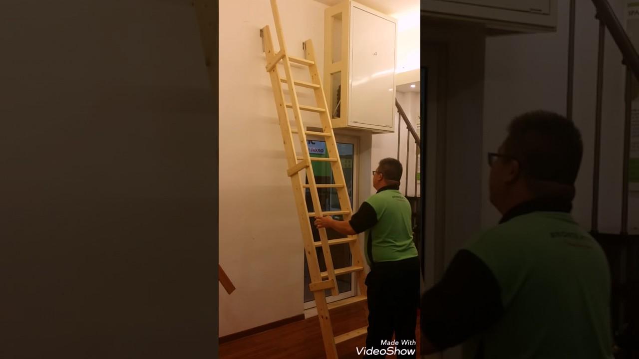 MSP Pivot Leaning Staircase for loft & MSP Pivot Leaning Staircase for loft - YouTube