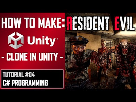 HOW TO MAKE A RESIDENT EVIL GAME IN UNITY - TUTORIAL #04 - C# CODING | VISUAL STUDIO thumbnail