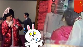 Chinese bride left at the altar catches her fiance marrying another woman on the same day