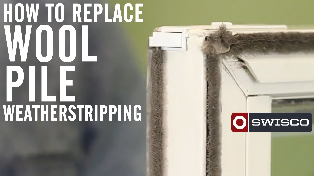How To Replace Wool Pile Weatherstripping Youtube