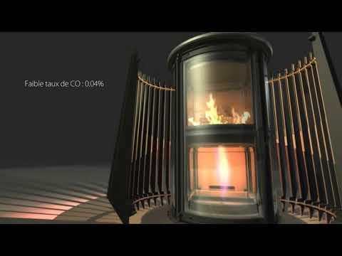 INVICTA ILOT - дизайнерская чугунная печь-камин для дома - INKAMIN.COM.UA