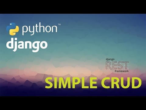 Super Easy CRUD REST API with Python Django Rest Framework