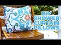 Turn A Shower Curtain Into Outdoor Pillows