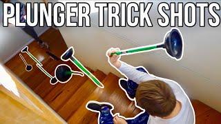 Plunger Trick Shots (Better than Dude Perfect!?)