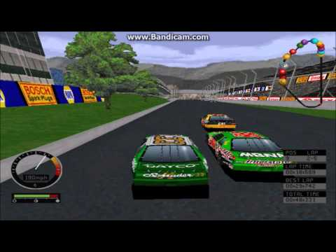 NASCAR Road Racing (PC) Gameplay (Kenny Schrader) (Bridgeport Speedway) (5 Laps)