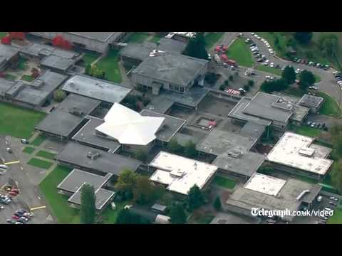 Watch: First pictures from scene of Washington state high school shooting
